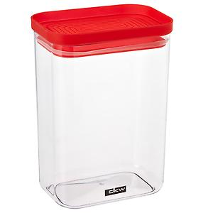 52 oz. Rectangle Canister Red Lid