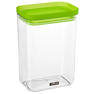 52 oz. Rectangle Canister Green Lid