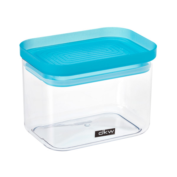 24 oz. Rectangle Canister Turquoise Lid