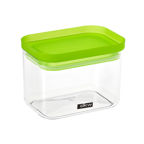 24 oz. Rectangle Canister Green Lid