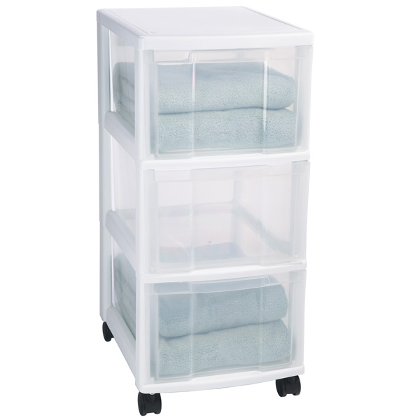 storage drawers on wheels Iris 3 Drawer Storage Chest with Wheels   The Container Store storage drawers on wheels