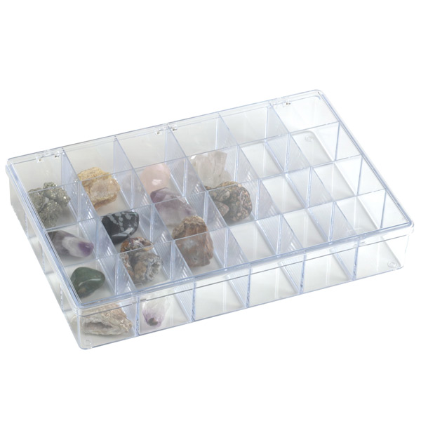 24-Compartment Box Clear