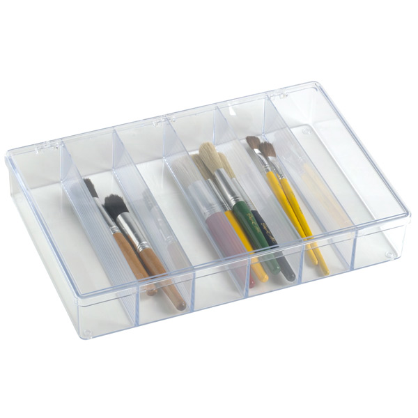 6-Compartment Box Clear