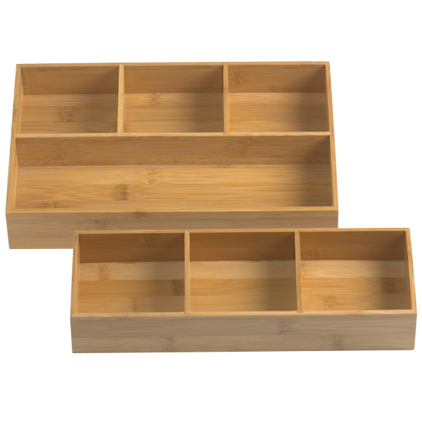 Bamboo Drawer Organizer Trays ...