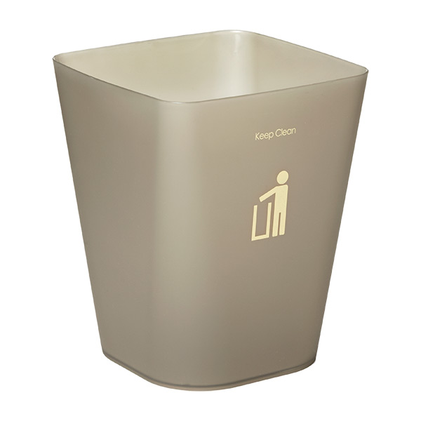 Square Keep Clean Wastebasket Smoke