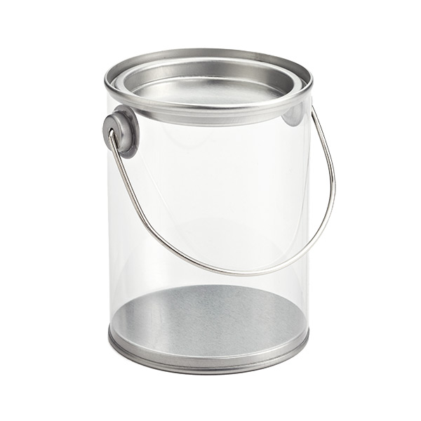 Paint Can with Handle Clear