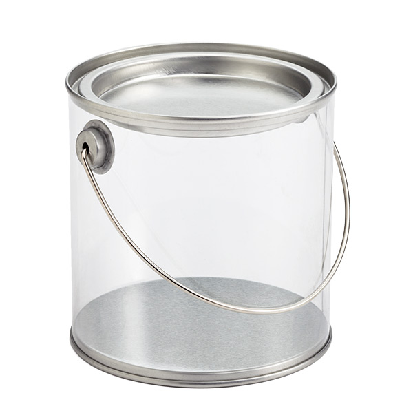 Paint can for 1 gallon clear plastic paint cans