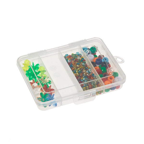 Mini 4-Compartment Box Translucent