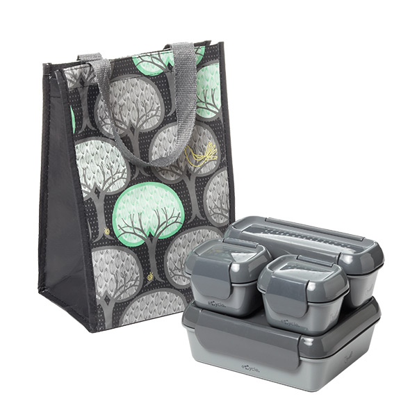 9-pc. Recycled Lunch Set Grey