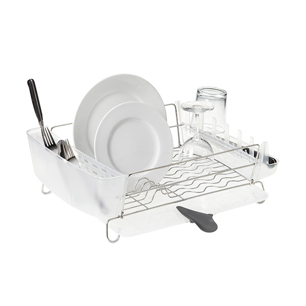 Deluxe Folding Dish Rack Stainless Steel