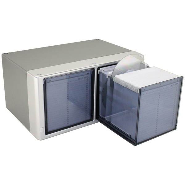 160 One Touch CD Box Silver