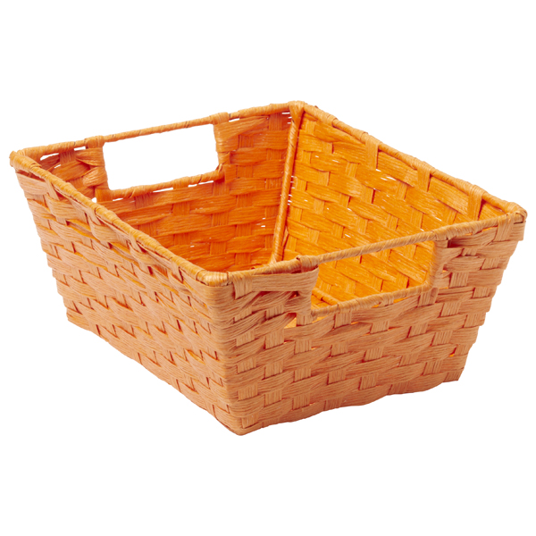 Paper Rope Bin with Handles Orange