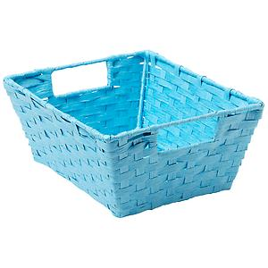 Paper Rope Bin with Handles Ocean