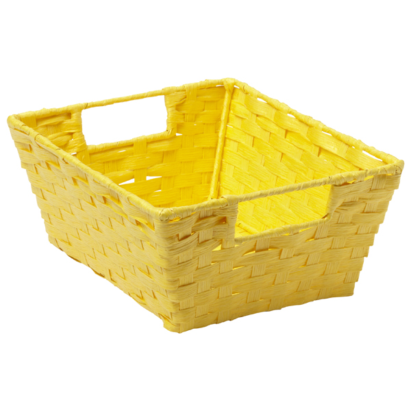 Paper Rope Bin with Handles Sun