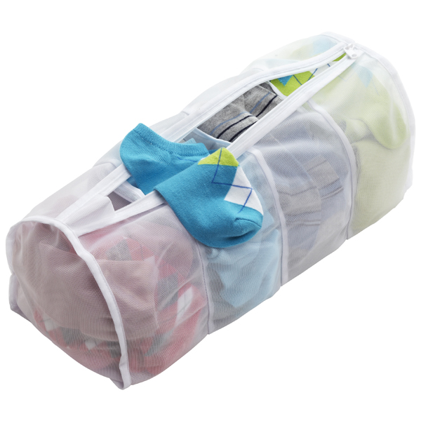 4-Section Micro Mesh Laundry Bag White