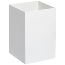 White Lacquered Gloss Trash Can | The Container Store