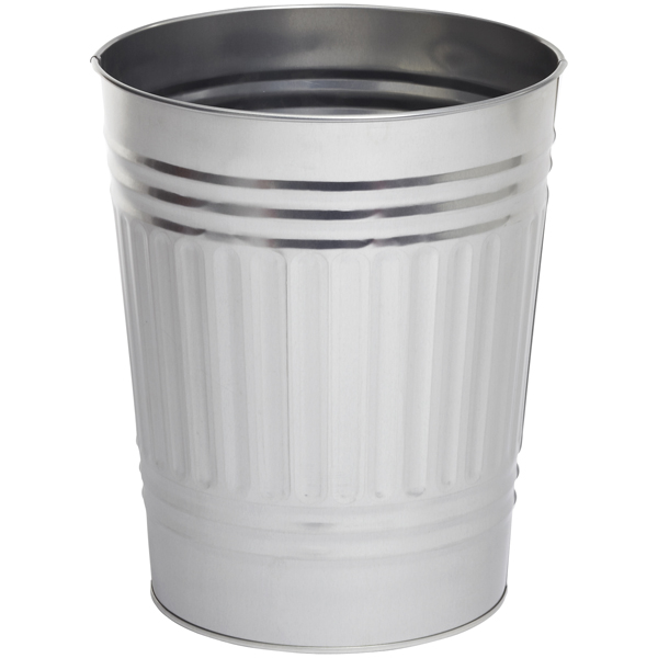 Oscar Tin Trash Can The Container Store