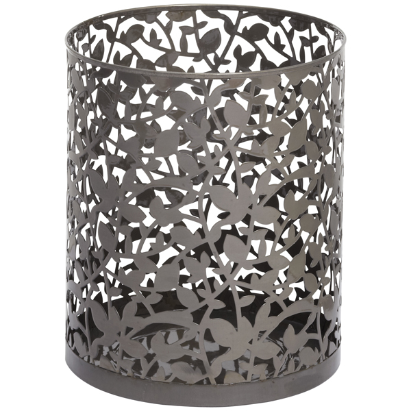 ivy steel trash can | the container store