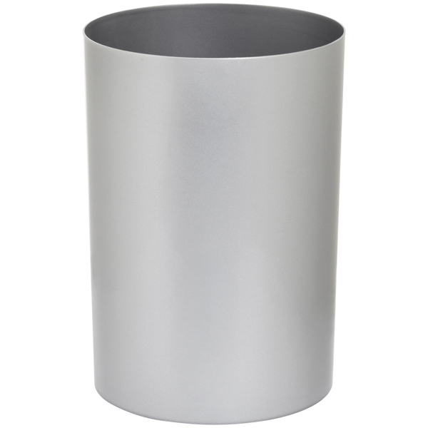 Large Cylinder Can Metallic Silver