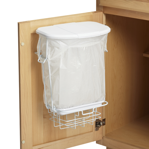 Trashrac the container store for Trash can ideas for small kitchen
