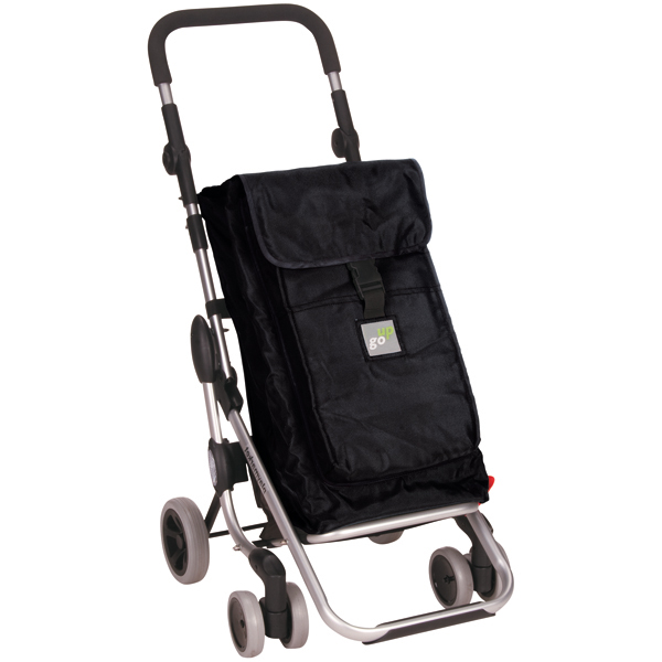 Go Up Swivel Shopping Cart Black