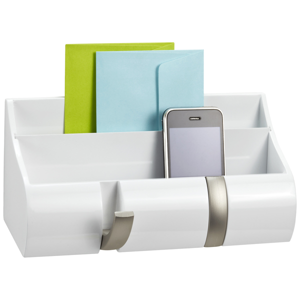Excellent Piano White Wall-Mount Cubby Organizer by Umbra | The Container Store FF27
