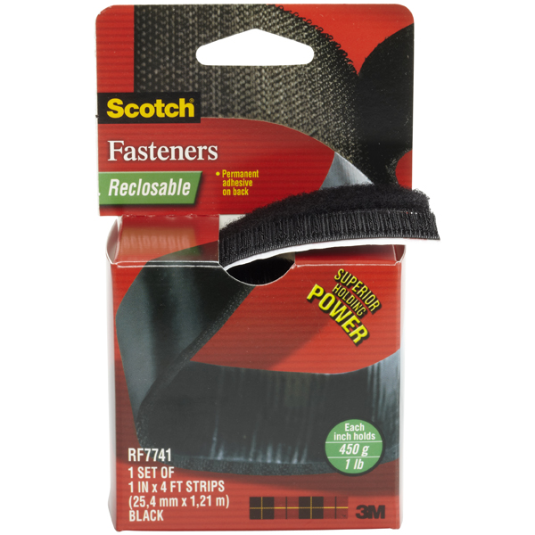 3M Scotch® Reclosable Fastener Black