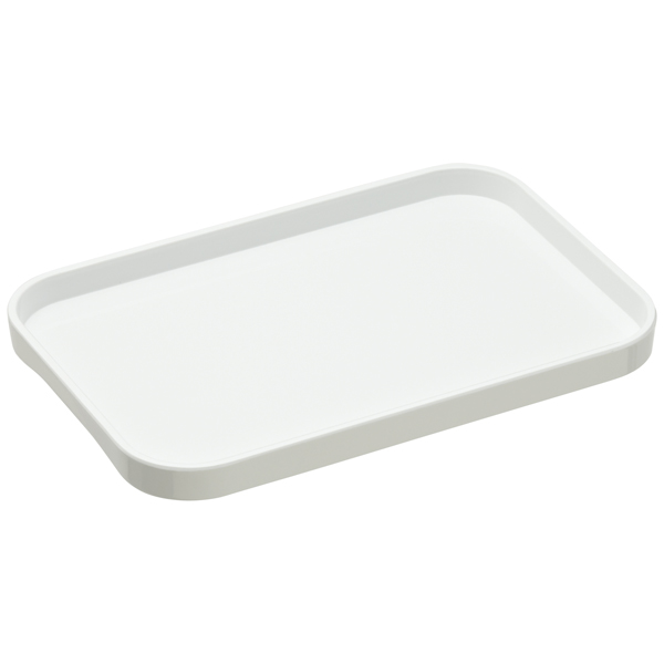 Small Melamine Tray White