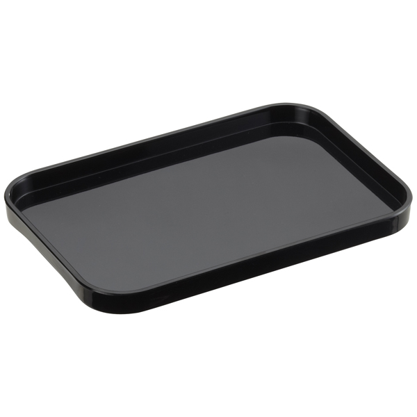 Small Melamine Tray Black