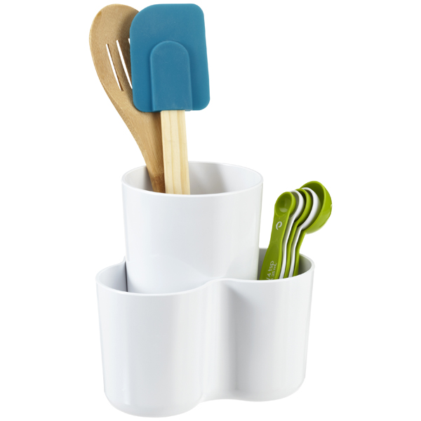 2-Piece Utensil Organizer White
