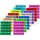 Color-Coded Moving Labels Home Pkg/140