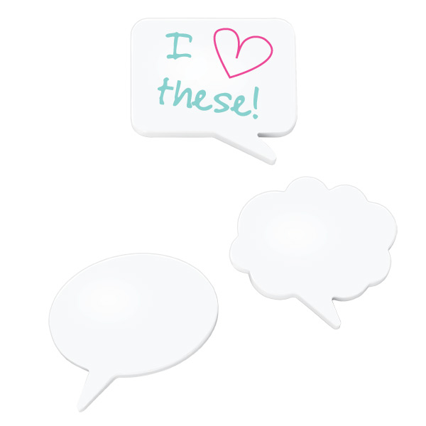 Umbra® Magnetic Dry Erase Talk Bubble White Pkg/3