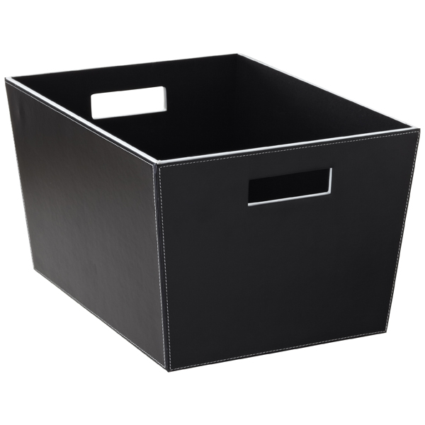 Large Open Bin Black