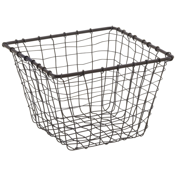 wire baskets rustic march steel wire storage baskets the container store. Black Bedroom Furniture Sets. Home Design Ideas