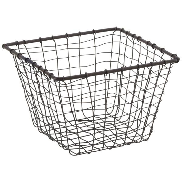 Rustic Marché Steel Wire Storage Baskets