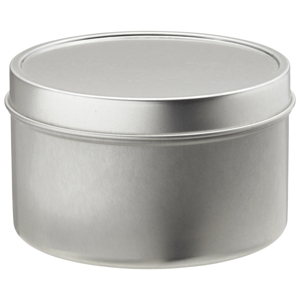8 oz. Seamless Tin Silver