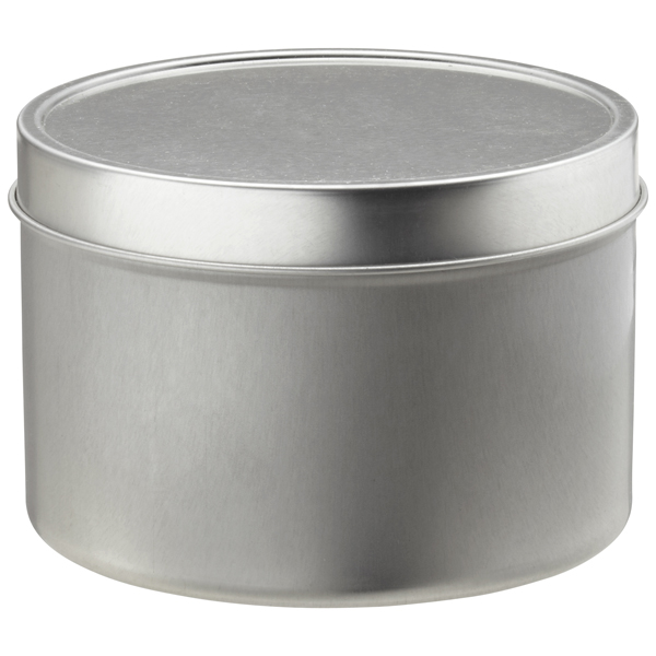 16 oz. Seamless Tin Silver