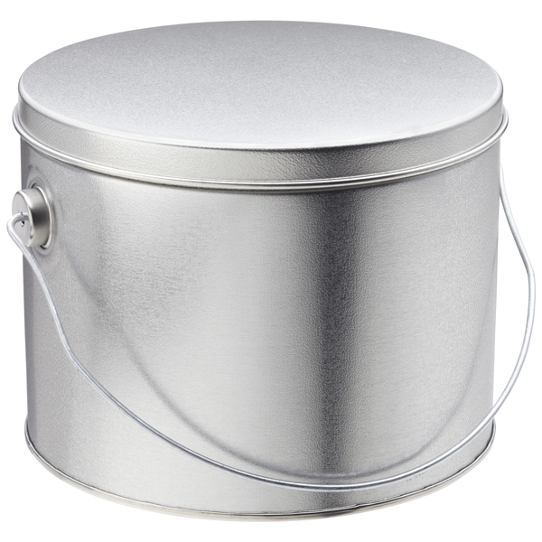 1/2 gal. Tin with Handle Silver