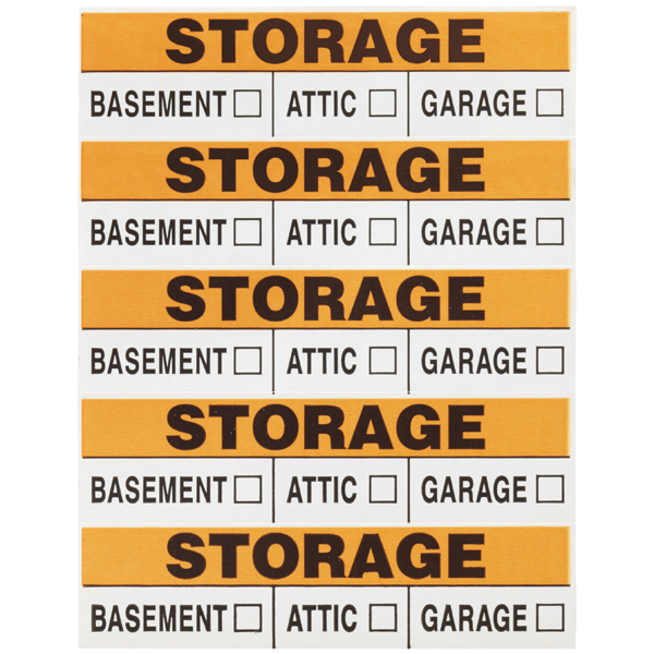 Storage Labels Orange Pkg/50