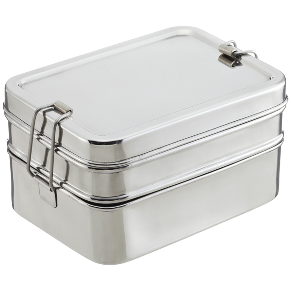 ECOlunchbox Stainless Steel Rectangular 3-in-1 Bento Box ...  sc 1 st  The Container Store & ECOlunchbox Stainless Steel Rectangular 3-in-1 Lunch Box | The ...