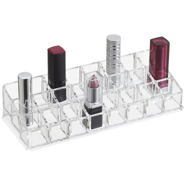 24-Section Acrylic Lipstick Riser Clear