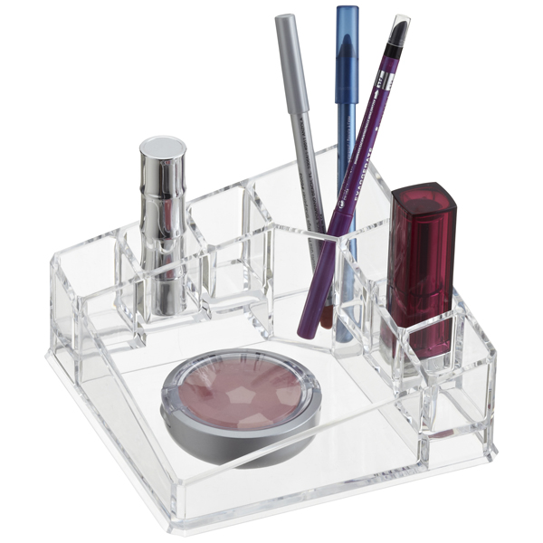 Acrylic Corner Makeup Organizer The Container Store