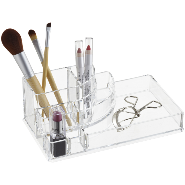 Deco Acrylic Makeup Organizer The Container Store - Acrylic makeup organizer