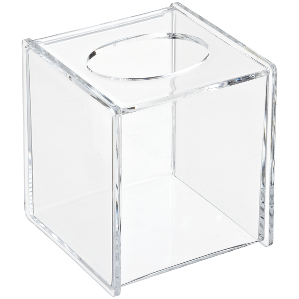 Acrylic Hinged Lid Boutique Tissue Box The Container Store