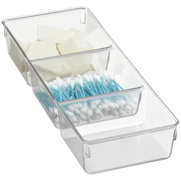 Linus™ 3-Section Tray Clear