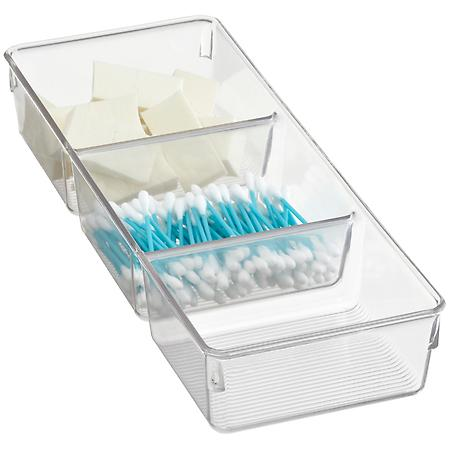 iDESIGN Linus 3-Section Tray Clear