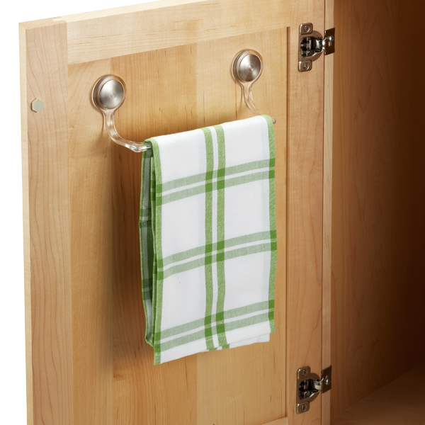 Interdesign Forma Adhesive Towel Bar The Container Rh Com Kitchen Cabinet Holder Bed Bath And Beyond Dish
