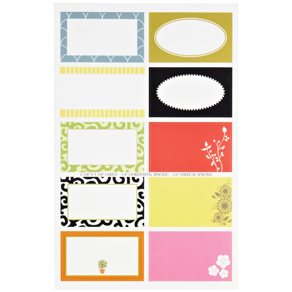 Round & Square Gift Labels Pkg/50