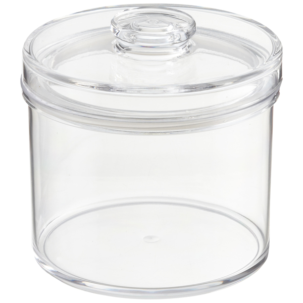 Acrylic Canisters Clear Round Acrylic Canisters The Container Store
