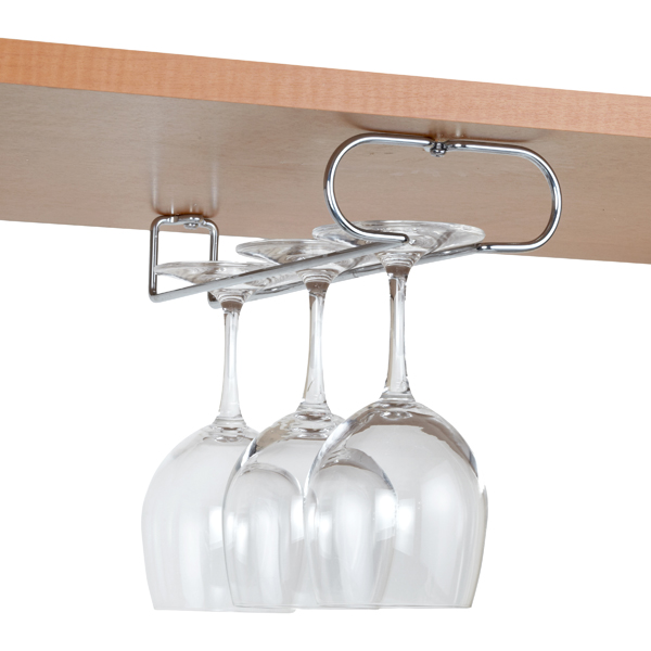 Favorite Chrome Wine Glass Holders | The Container Store JE82